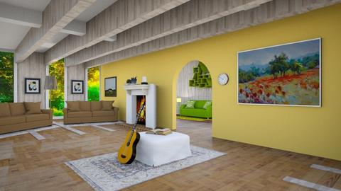 Mexican style living room - Living room  - by Jahsoftball_