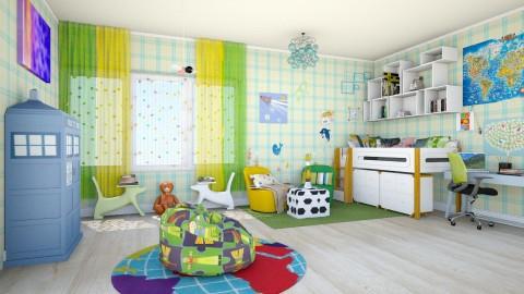 boys - Kids room  - by teffy
