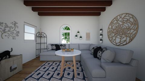 modern boho - Living room  - by Izzyinnit