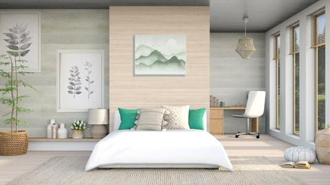 Sage Green Bedroom - Bedroom  - by Oyisha