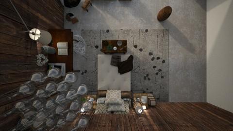 Wood bedroom on the roof - Bedroom  - by IIreneII