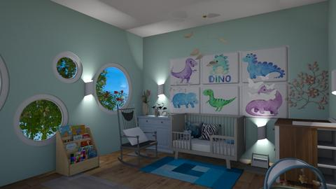 Baby Boy Nursery - Kids room  - by Babybluewolfboo
