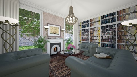 Colonial Revival - Classic - Living room  - by Theadora