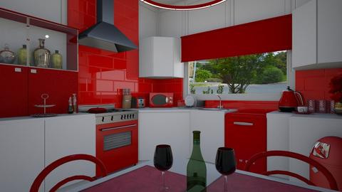 study in red - Modern - Kitchen - by donella