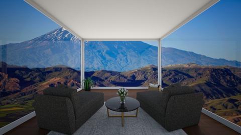 Watching The Mountain - by cagla_deniz_