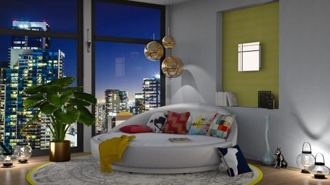 Modern Bedroom - by kyrabaldwin