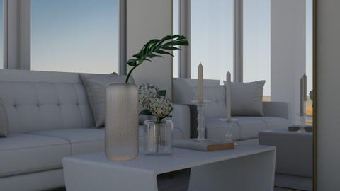 white - Modern - Living room  - by LI_VV