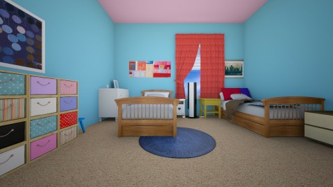 Zanas Room after view 3 - Kids room - by kenzielu