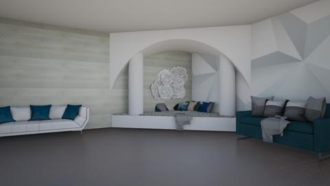 white and teal lounge - Modern - by rhod365
