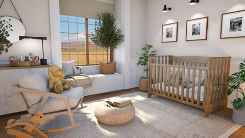 Farmhouse Nursery - Kids room  - by NiceGoodNoodle