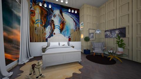 horse style room - Bedroom  - by Natasha W
