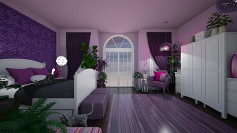 lavender bdrm - Bedroom  - by imapixie
