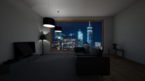 dark boston apartment - Living room  - by TimmyDesigner