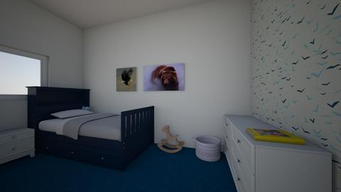 blue themed kids room - Modern - Kids room  - by hallo1234