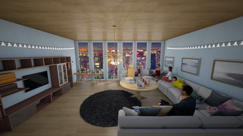 Family Movie Night - Modern - Living room  - by Han Jisung