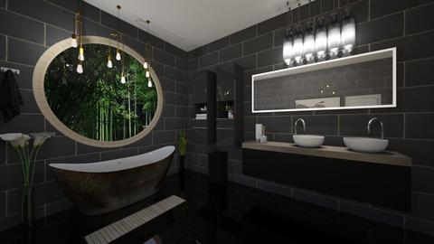 Black Bathroom - Modern - Bathroom  - by yaizalloriginal