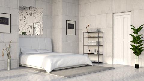 Gray Stone Bedroom - Minimal - Bedroom  - by millerfam