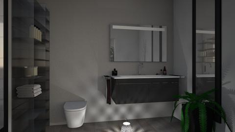 Grey Apartment 5 - Modern - Bathroom  - by millerfam