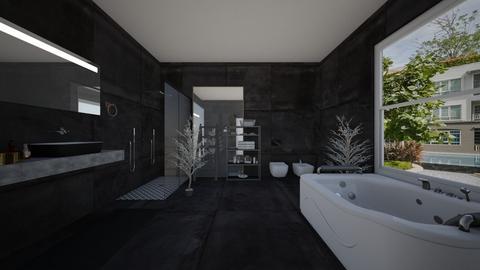 Black Bathroom - Bathroom  - by rechnaya