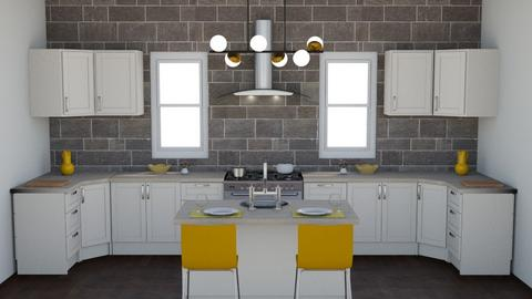 symmetrical room - Kitchen - by olivia8088