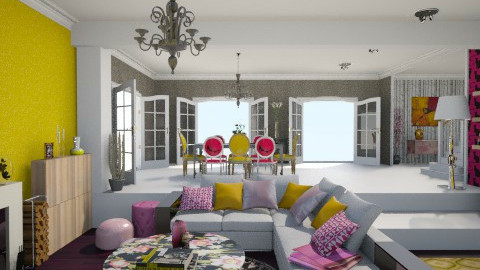 Pink Yellow Living Room - Eclectic - Living room - by giulygi