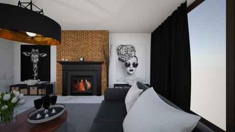 salon - Rustic - Living room  - by SA_Karpinska