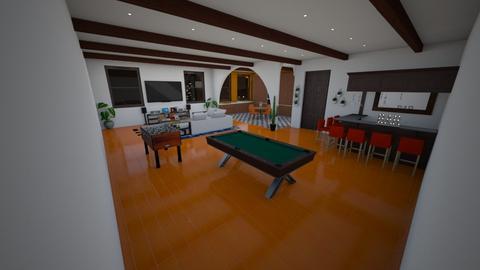 Orange Carpet - Country - Living room  - by kellynazha