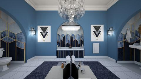 Art Deco - Bathroom - by sissybee