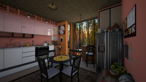 Autumn Vibes Kitchen - Eclectic - Kitchen  - by PAPIdesigns