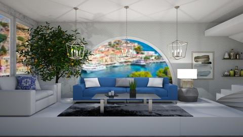 Greek Modern - Living room  - by MeenaC