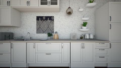 White Kitchen - Kitchen  - by Cairalacas