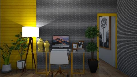 Yellow Working Space - Office  - by Tanem Kutlu