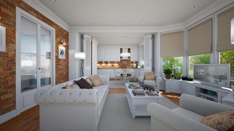 Brooklyn Heights Renewed - Modern - Living room  - by Claudia Correia