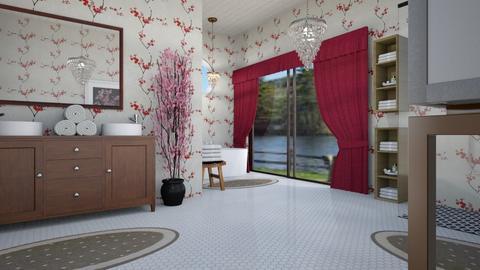 Cherry Blossom Bathroom - Bathroom  - by steker2344