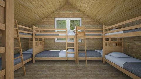 Summer Camp Cabin - Bedroom - by SammyJPili