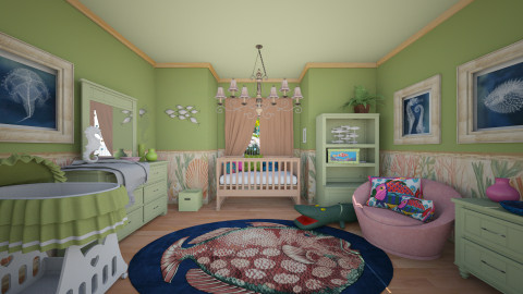 Coastal Nursery - Classic - Kids room  - by Lackew