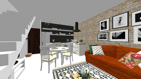 jelou - Retro - Living room  - by Valeria Gomez Aguirre