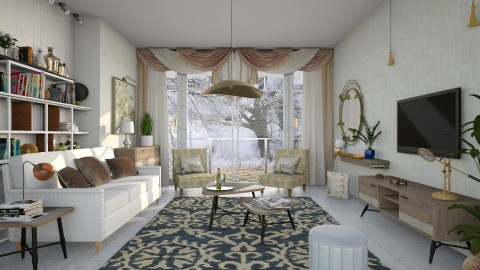 M_L - Eclectic - Living room  - by milyca8