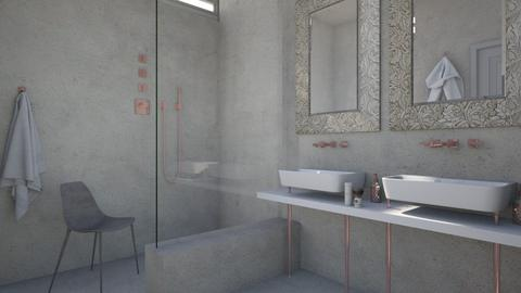 Rose gold  - Bathroom  - by Liu Kovac