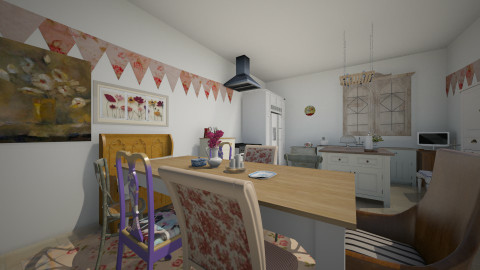 mish mash kitchen -homey - Eclectic - Kitchen  - by Charlotte Aliceee