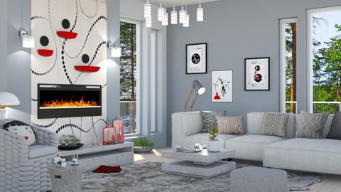Japandi_Contest_milyca8 - Living room  - by milyca8
