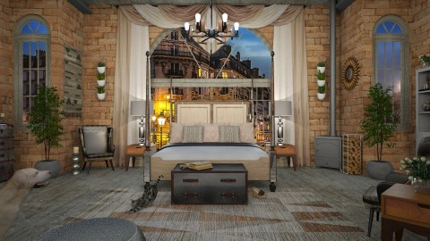 Design 278 Warehouse Bedroom - Bedroom  - by Daisy320