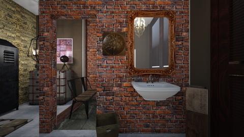 Industrial Bathroom - Bathroom - by Madisyn J