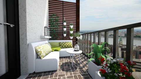 Balcony - Garden  - by Thrud45