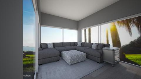 Grey Livingroom - Minimal - Living room  - by LivStyles09