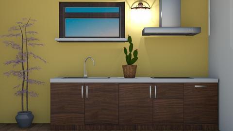 Little Yellow Kitchen - Kitchen  - by Itsjustme1