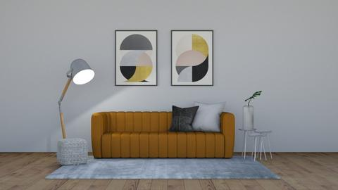 Mustard and Circles - Living room  - by 021snoopy205
