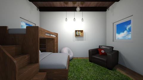 Indoor_Outdoor Boys Room - Bedroom  - by greekgirl37