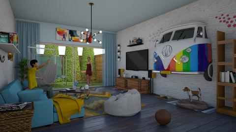 Cheers to VW  - Eclectic - Living room  - by Illuminaughty