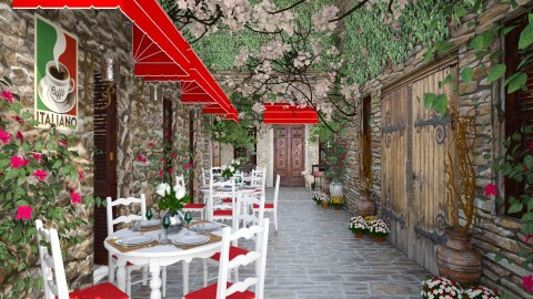 Design 93 Cafe in Tuscan Alley - Garden  - by Daisy320